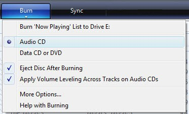windows media player burn