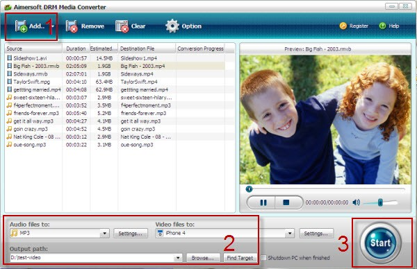 convert protected wmv to mp3