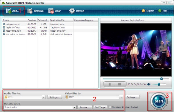 convert itunes to droid