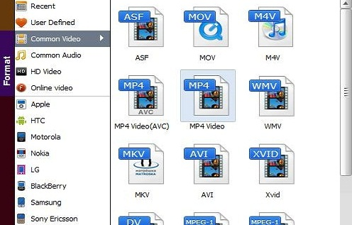 Convert iTunes Movies to MP4 - Choose Output Format