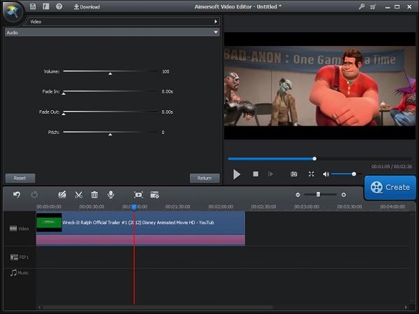 increase video sound