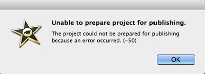imovie export error