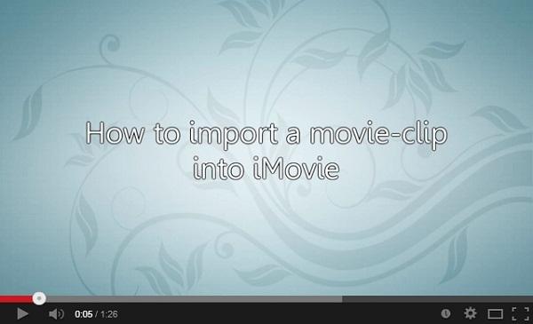 imovie import