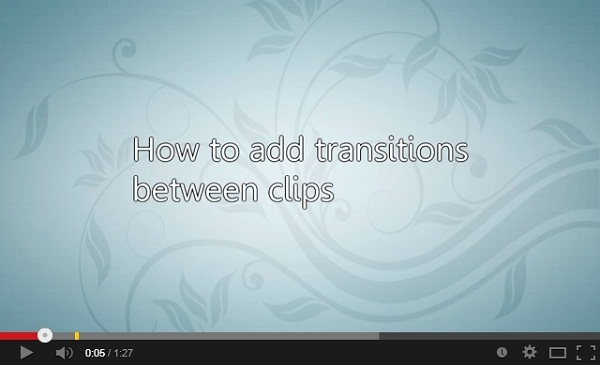 imovie transition