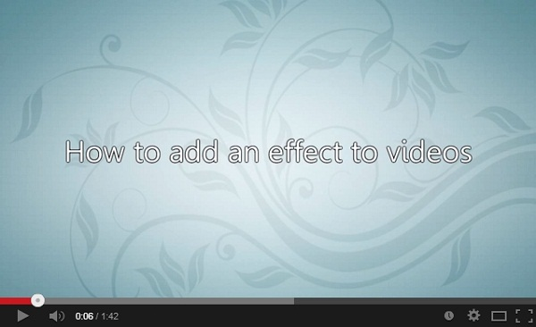 imovie video effects