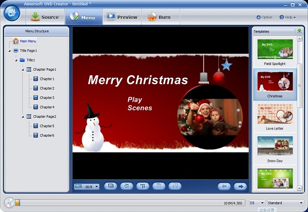 create christmas photo album