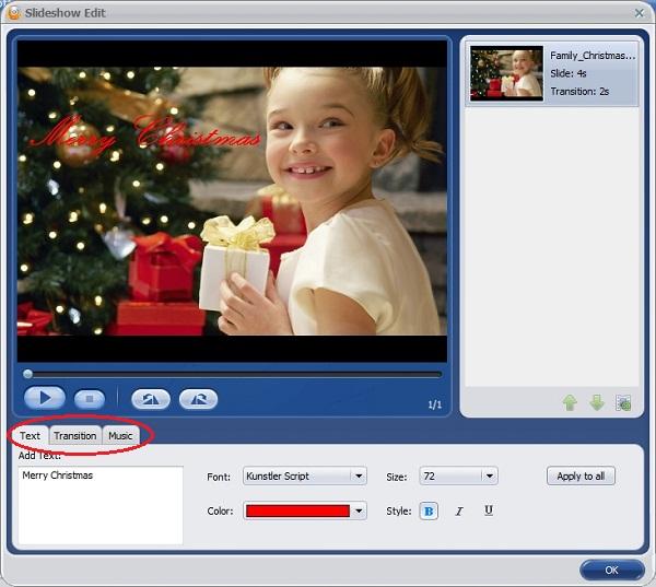 make christmas dvd photo slideshows
