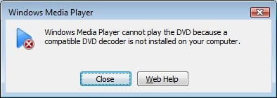 Can't play DVD