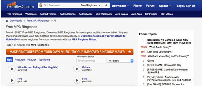 music ringtones for android