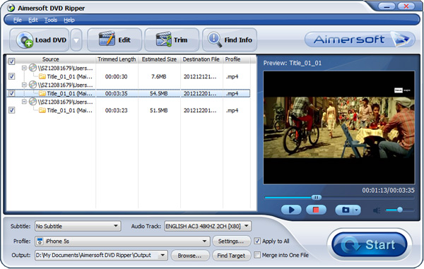 convert DVD to Winsdows Media Center