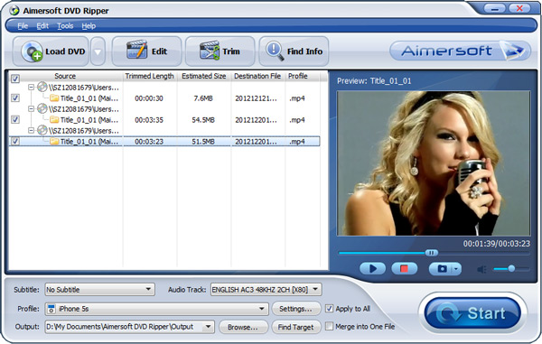 stream dvd to hd format
