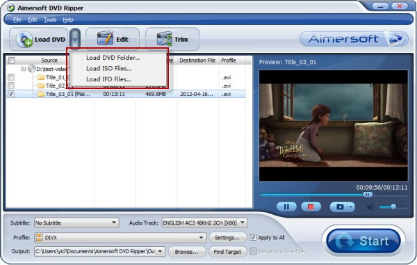 convert video ts to divx