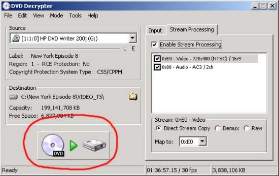 dvd decrypter rip