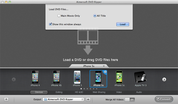 Rip DVD to DV on Mac