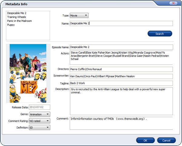 embed dvd metadata