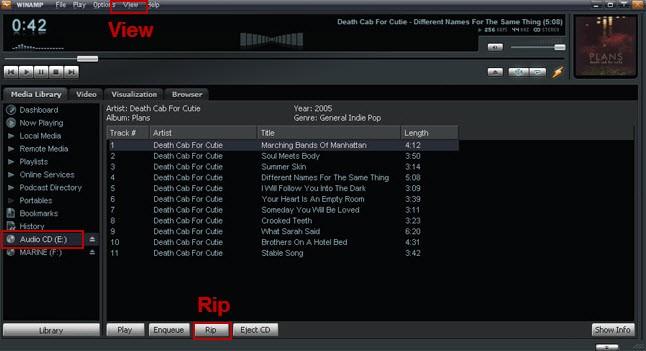 winamp rip cd