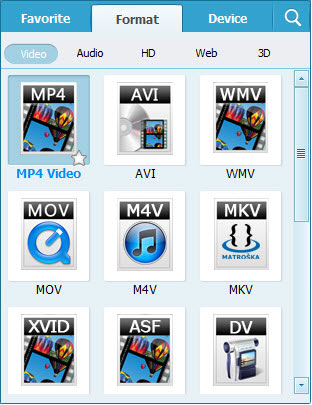 Convert FLV to 3GP 3G2 Video formats - select output format