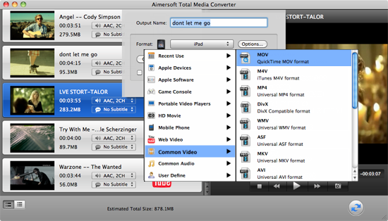 Aimersoft Total Media Converter for Mac Screenshot