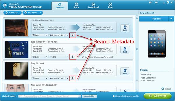 add metadata to movies