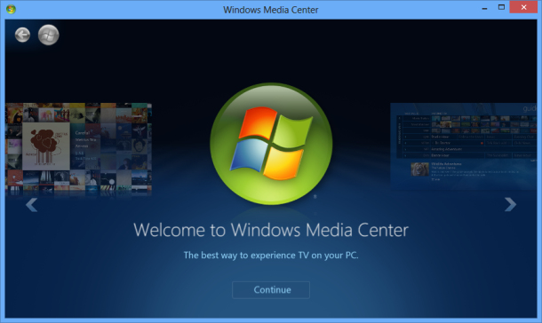 Windows Media Center Play DVD