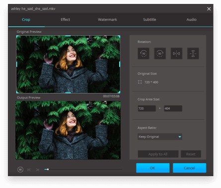 video cropper