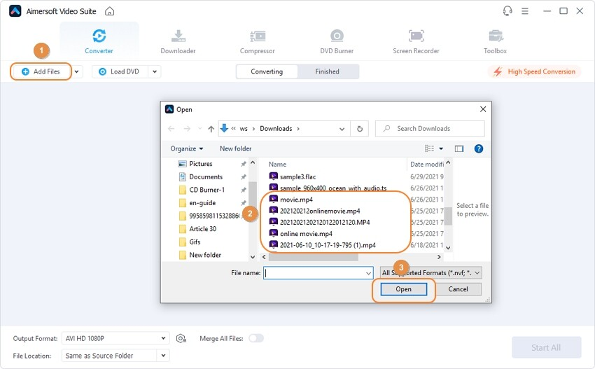 Load the TS files to Aimersoft Video Converter Ultimate