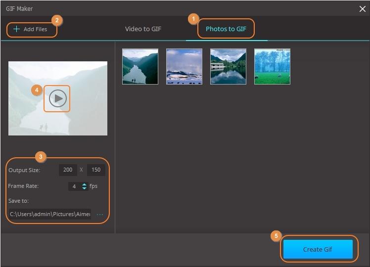 Create photos to GIF