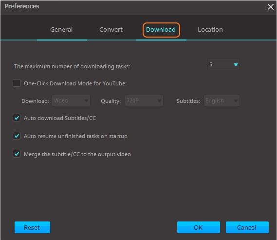 downloading settings