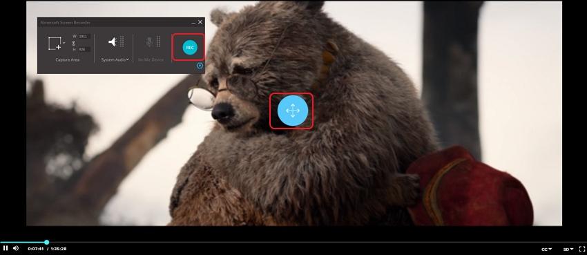 Choose Record settings for Vudu movie recording