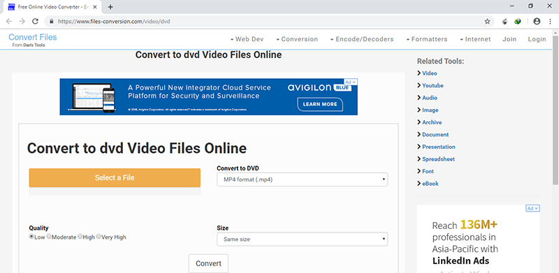 Online VTS to MP4 Converter ConvertFiles