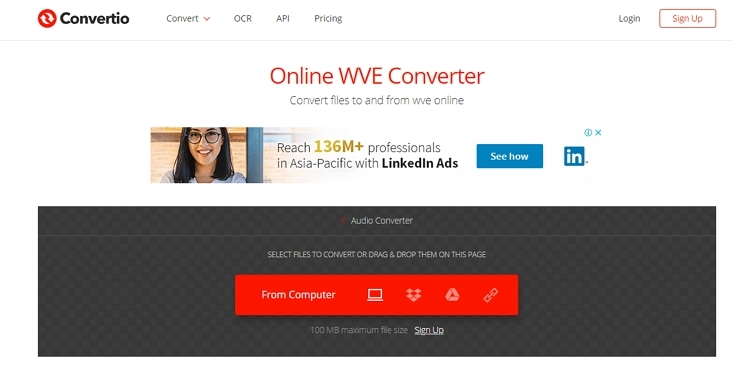 Link to MP4 online Converter Convertio