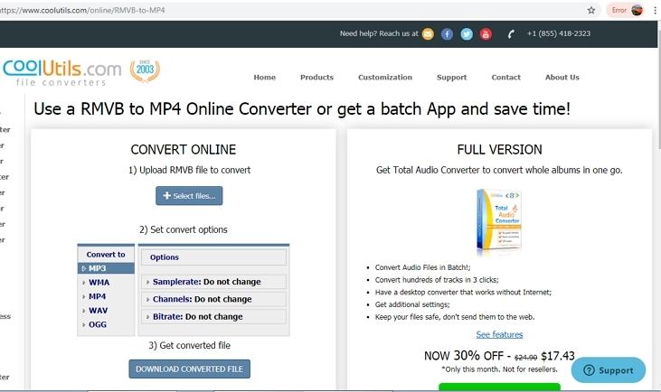 free rmvb to mp4 converter CoolUtilis