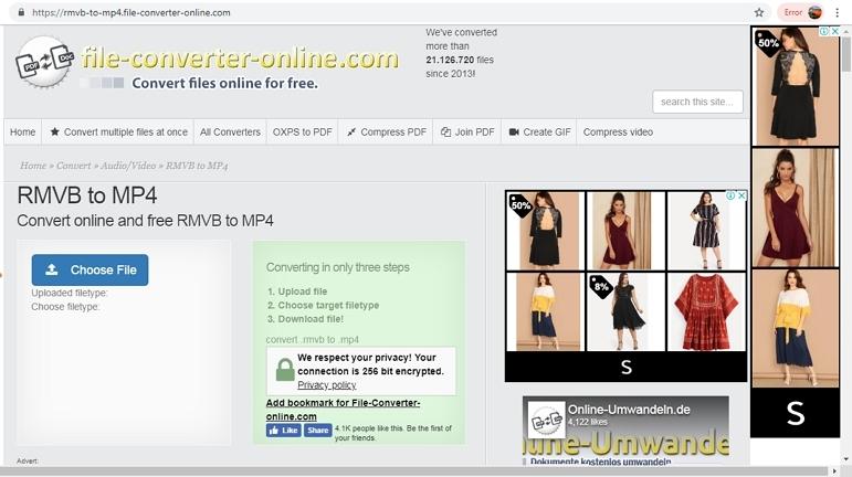 free rmvb to mp4 converterFileConverter Online