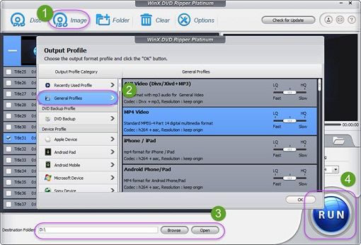 process ISO to MP4 converting in WinX DVD Ripper Platinum