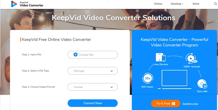 keepvid online mp4 to mkv converter