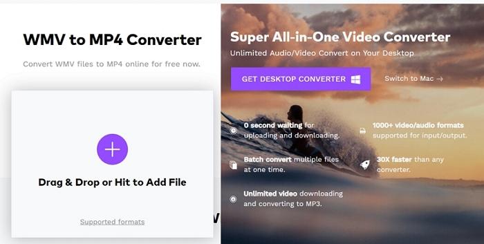 WVE to MP4 Converter Online mediaio