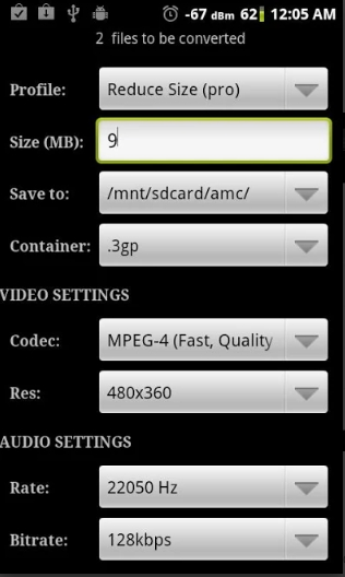 MP4 to DivX Converter for Android