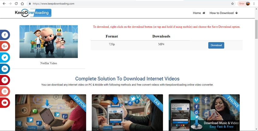 convert netflix video to mp4 with keepdownloading