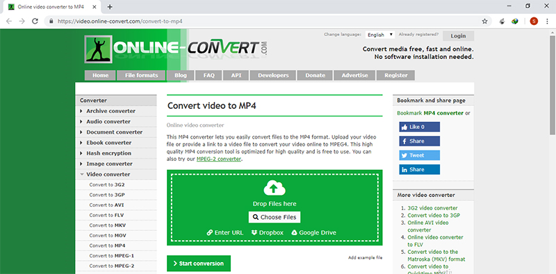 convert h264 to mp4 online