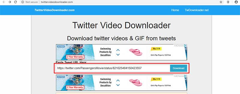 download twitter video online