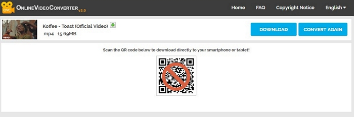 download the mp4 files with QR code