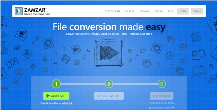 convert h264 to mp4 online zamzar