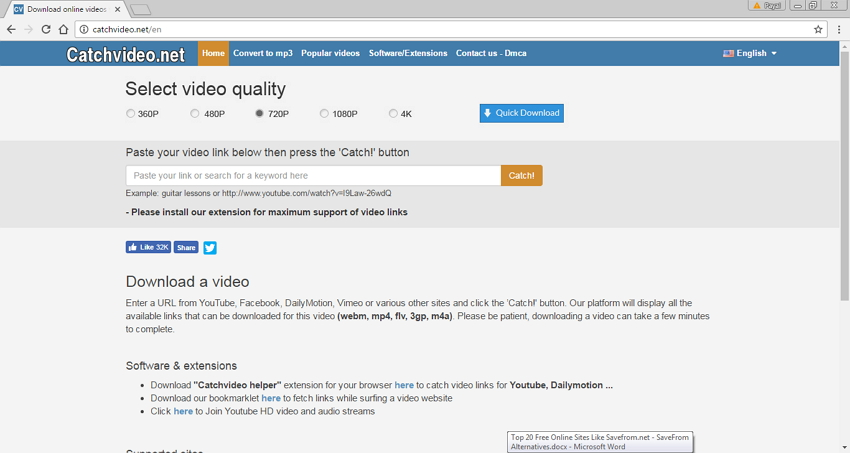 Online Site Like Savefrom.net - CatchVideo