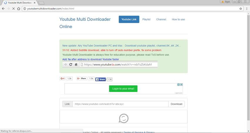 Online Site Like Savefrom.net - YouTubeMultidownloader