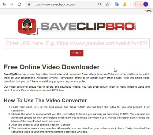 3 Facebook to MP3 Converter for Online Solution  - SaveClipBro