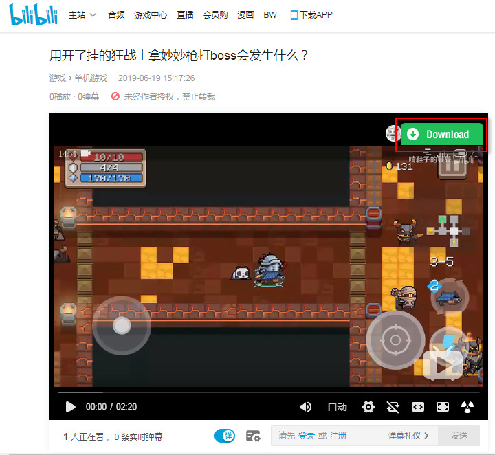 download bilibili videos in 1 click