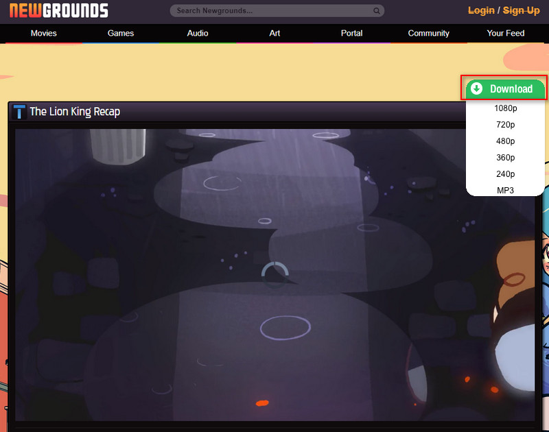 how to download newgrounds videos