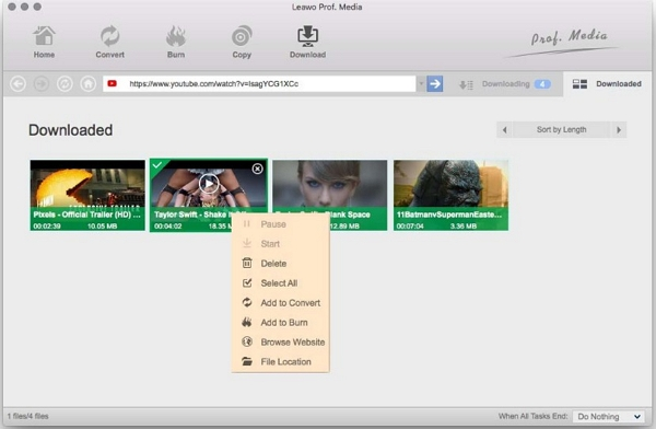Other 6 StreamTransport for Mac Alternatives in the Market - Leawo YouTube Downloader
