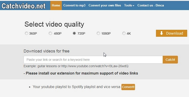 Recommended 6 Free Web Service to Download Web Videos from Any Site - Catchvideo.net