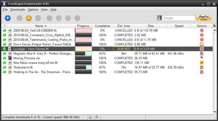 Orbit Downoader alternative- FreeRapid Downloader